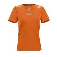 SHIRT PORTO LADIES SS ORANJE/WIT 44