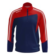 ZIP SWEATER FORZA NAVY/RED 140
